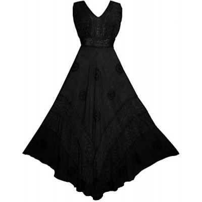 Agan Traders 1011 D Romantic Party Gothic Flair Dress Gown [L, Black]