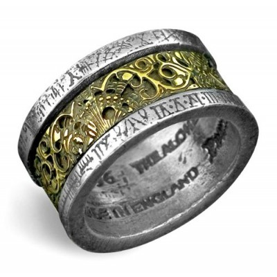 Dr. von Rosenstein's Induction Principle Alchemy Gothic Ring - size 7