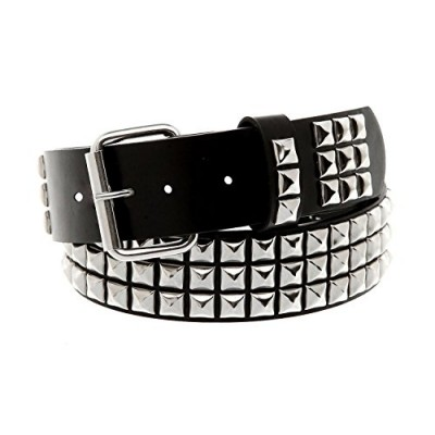 Classic Pyramid Studded Leather Belt (Size Medium 32-36 inch waist)