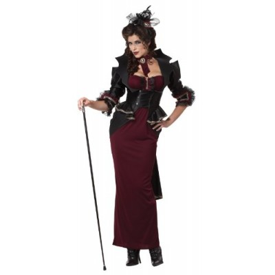 California Costumes Lady Of The Manor, Black/Burgundy, Large Costume