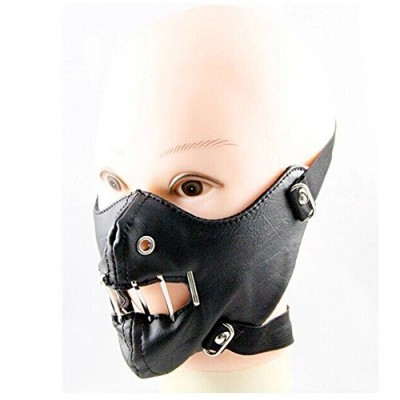 Crazy Genie Halloween Cosplay Gothic Horror Anti Dust Cycling Bicycle Bike Motorcycle Racing Ski Face Mask (black punk)