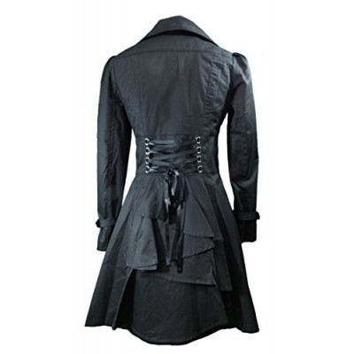 CS -Rainy Night in Paris- Black Victorian Gothic Corset Vintage Style Jacket (P18)