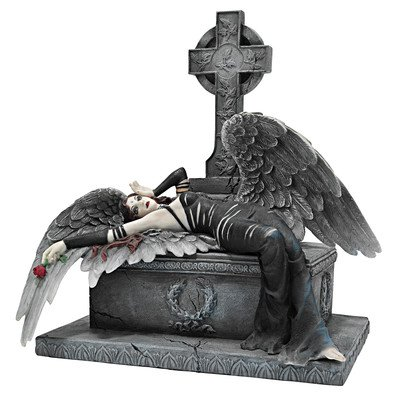 Design Toscano 9.5 in. Mistress of the Crypt Gothic Angel Statue