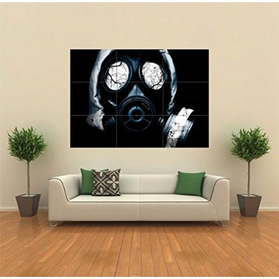 BLACK GAS MASK HORROR GOTHIC NEW GIANT POSTER WALL ART UNIQUE PRINT PICTURE G111