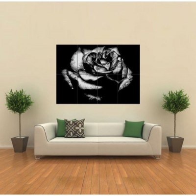 BLACK ROSE GOTHIC GIANT WALL ART PRINT POSTER G315