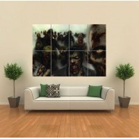 VECTOR GOTHIC ZOMBIE HORROR MONSTERS GIANT WALL ART PRINT PICTURE POSTER G1212