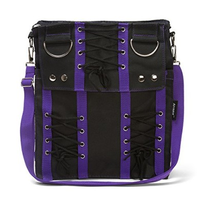 Purple Corset Sling Bag Purse Goth Vamp Rockabilly Punk Deathrock Anime Cosplay