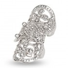 EVBEA Statement Full Finger Rings Bling Jewelry Fashion Crystal Knuckle Rings for Women (White)