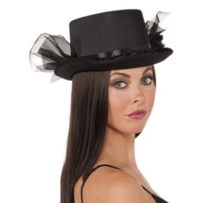 Gothic Tulle Top Hat