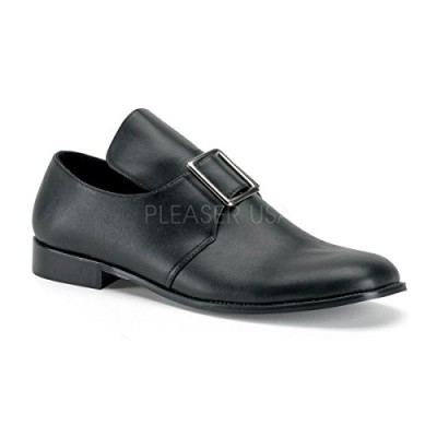 Funtasma by Pleaser Men's Halloween Pilgrim-10,Black Polyurethane,M (US Men's 10-11 M)