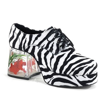 Funtasma by Pleaser Men's Halloween Pimp-02,Zebra,M (US Men's 10-11 M)