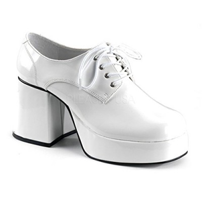Funtasma by Pleaser Men's Jazz-02 Platform Oxford,White Patent,M (US Men's 10-11 M)