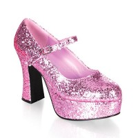 Funtasma by Pleaser Women's Maryjane-50G Pump,Baby Pink Glitter,7 M