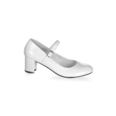 Funtasma by Pleaser Women's Schoolgirl-50 Mary Jane,White Patent,8 M US