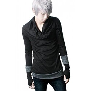 Gothic Punk Long Sleeve T-Shirt Shawl