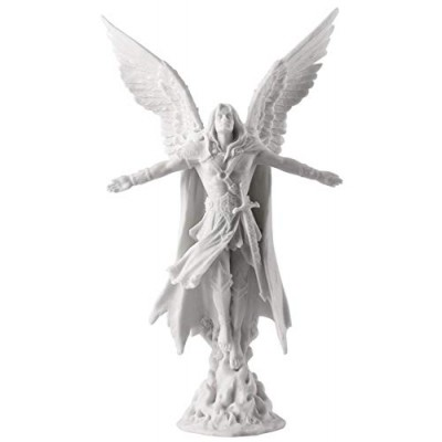 "Ascending Angel Statue Sculpture 11"" Tall (White)"