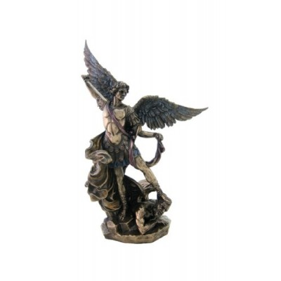 Archangel St Michael Statue - H: 10 inch - Archangel of Protection and Justice - Leader of the Seven Archangels