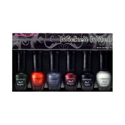 Klean Color Wicked Witch Gothic Nail Lacquer Mini Collection .17 oz Klean Color