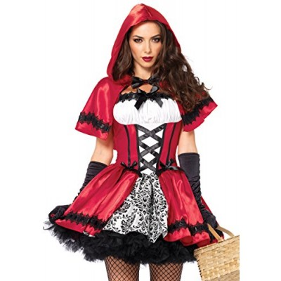 Gothic Red Riding Hood Adult Costume - L