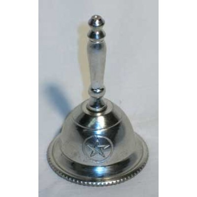 New Age Imports Inc. Altar Bell with Pentagram Design, 3 inches tall