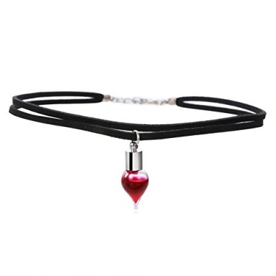 Halloween's Vampire Blood Vial Double Layer Cord Choker Necklaces