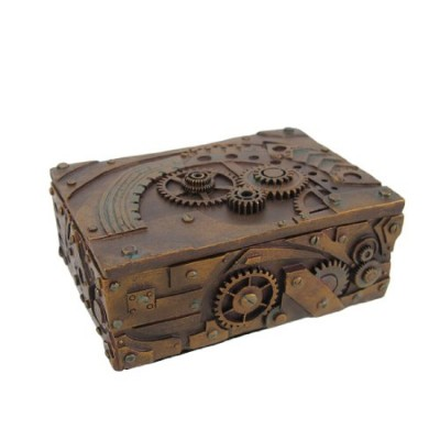 PTC 5 Inch Steampunk Mechanical Inspired Jewelry/Trinket Box Figurine