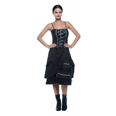 women's plus antique style laceup corset tiered ruffle