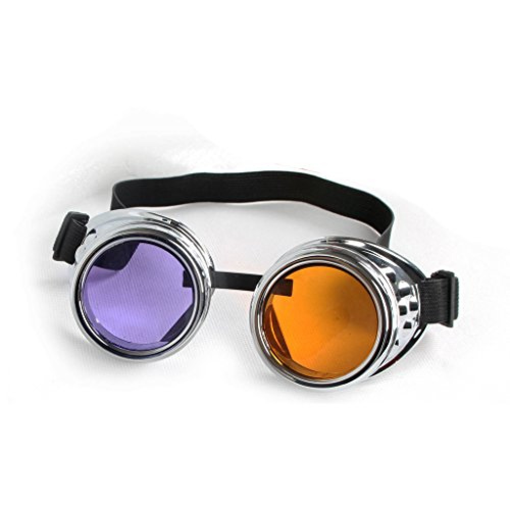 Vintage Victorian Steampunk Goggles Cosplay Halloween Glasses Welding Cyber Punk