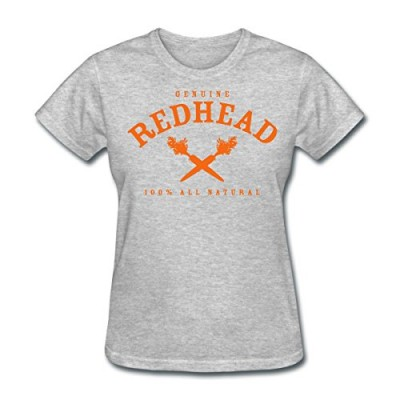 Genuine Redhead All Natural Hair Women's T-Shirt by Spreadshirt, M, heather gray