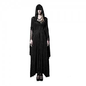 Steelmaster Women's High Priestess of the Coat Gothic Long Dress(Black) (XXXL)