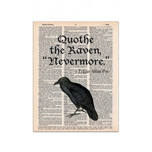 The Raven, Edgar Allan Poe Quote, Dictionary Page Art Print, 8x11 UNFRAMED