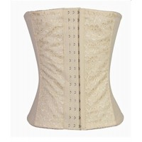 Wiipu Waist Tummy Trainer Wedding Dress Women Corset(WH41)-Large Beige