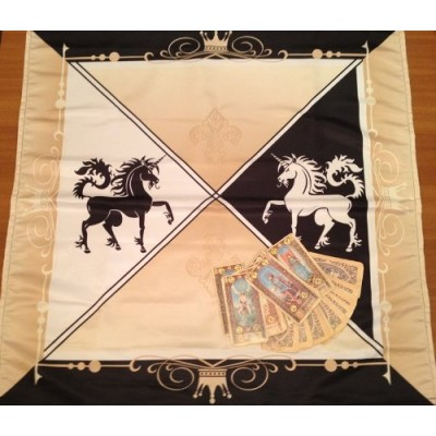 Wicca Altar Taro Cloth Mystical Unicorn